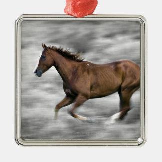 Rinnande häst julgransprydnad metall