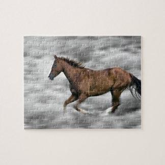 Rinnande häst pussel