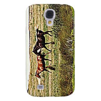 Rinnande hästar galaxy s4 fodral