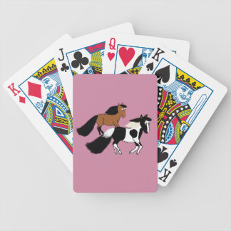 Rinnande hästar spelkort