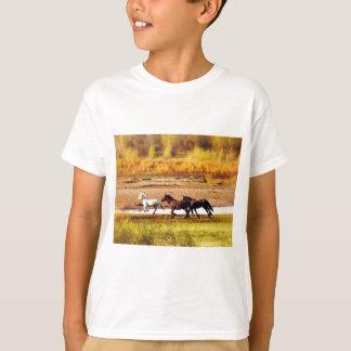 Rinnande hästar tröjor