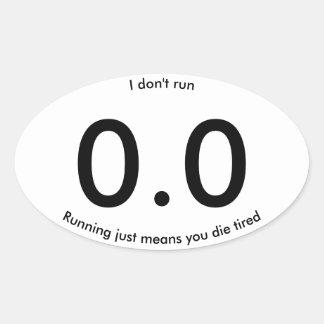 Rinnande precis elak dör du den trött ovalt klistermärke