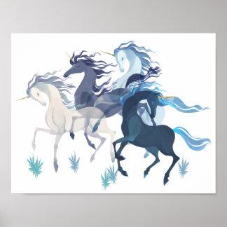 Rinnande Unicornsaffisch Poster