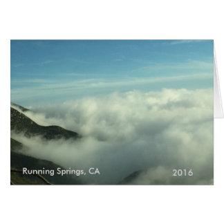Rinnande vårar CA-landskapkort Hälsningskort