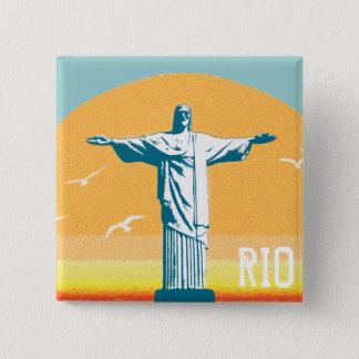 Rio - Corcovado - Jesus Kristus redeemeren Standard Kanpp Fyrkantig 5.1 Cm