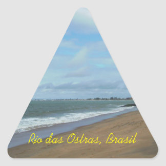 Rio das Ostras, Brasil Triangelformat Klistermärke