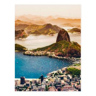 Rio de Janeiro Cityscape beskådar Vykort