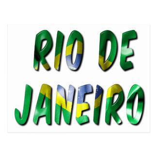 Rio de Janeiro ord med flaggastrukturvykortet Vykort