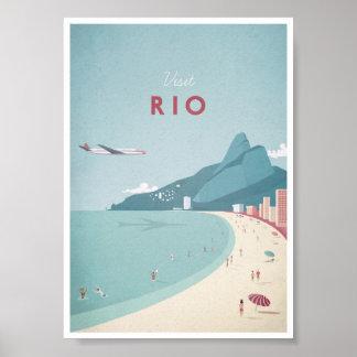 Rio vintage resoraffisch poster