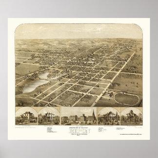 Ripon panorama- karta för WI - 1867 Poster
