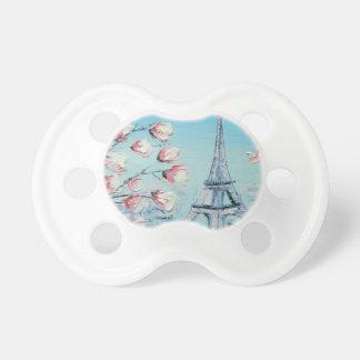 ris-vårmålning, blommar för Eiffel tornkörsbär Napp