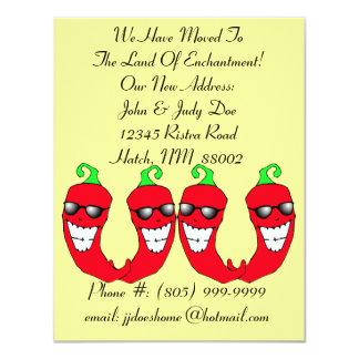 Ristra för lycklig Chilis peppar rört meddelande 10,8 X 14 Cm Inbjudningskort