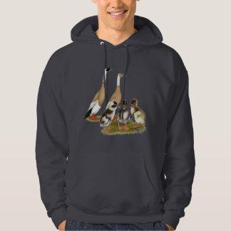 Ritad springerankafamilj sweatshirt med luva