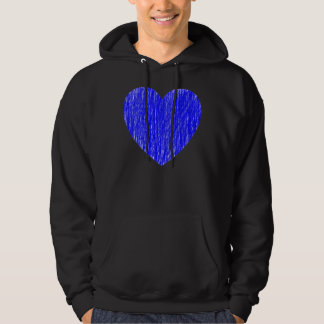 Ritade in - blått sweatshirt med luva