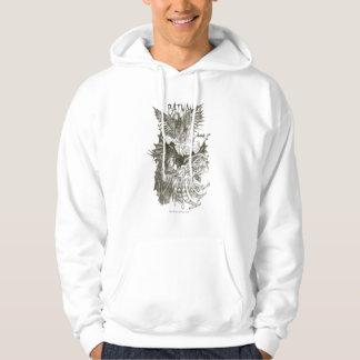 Ritar den grafiska romanen för uppassaren skissar sweatshirt med luva