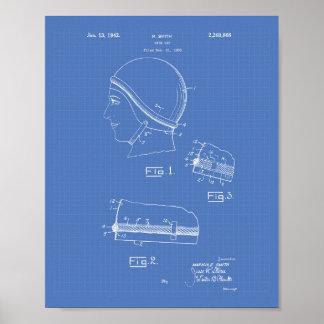 Ritning för simmaGap 1942 patenterad konst Poster