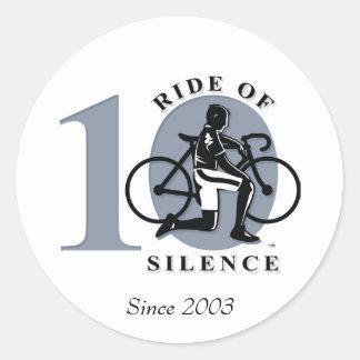 Ritt av den 10th årliga Commemorationklistermärken Runt Klistermärke