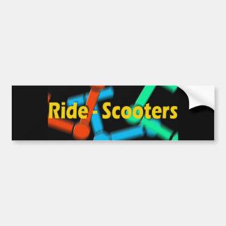 Ritt-Sparkcyklar Bumpper klistermärke Bildekal