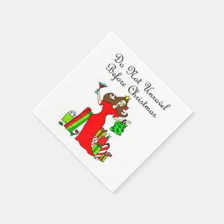 Riva upp inte för jul - julen görar till drottning papper servetter