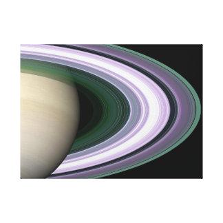 Riva upp Saturns ringar Canvastryck