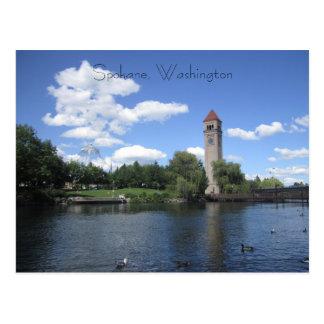 Riverfronten parkerar vykort