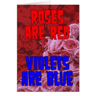 Ro är röda, Violets är det blått adopterade kortet Hälsningskort