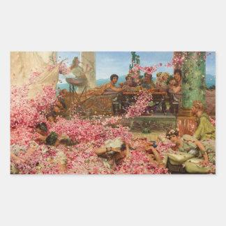 Ro av Heliogabalus av Lawrence Alma-Tadema Rektangulärt Klistermärke