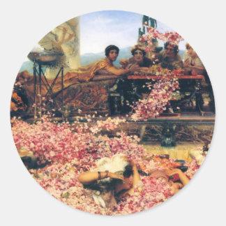 Ro av Heliogabalus av Lawrence Alma-Tadema Runt Klistermärke