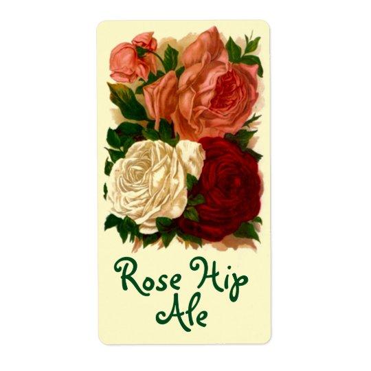 Ro för höft för vin för Homebrewing etikettöl rosa Fraktsedel
