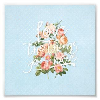 Ro för sommar för kärlekblomma härliga blom- fototryck