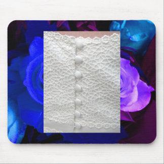 Ro Mousepad för blått för vitbröllopkappa purpurfä Musmattor