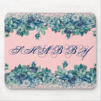 Ro Mousepad för vintageshabby chicblått Musmatta