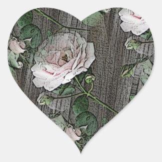 Ro på ridit ut trä hjärtformat klistermärke