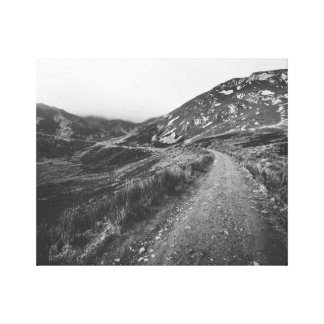 Roadtrip i svartvitt fototryck canvastryck