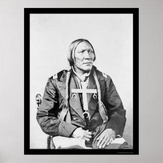 Robe 1870 för Cheyenne indier lite Poster