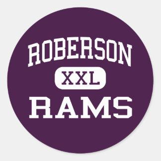 Roberson - rammar - kick - Asheville North Runt Klistermärke