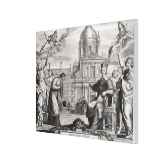 Robert de Sorbon och Cardinal Richelieu Canvastryck