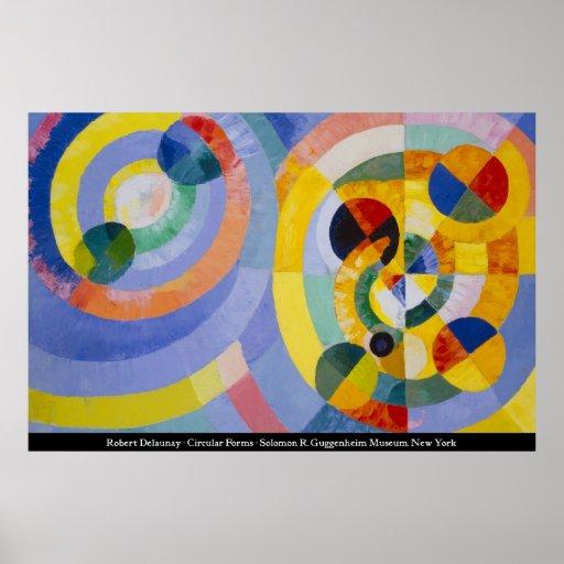 Robert Delaunay - cirkuläret bildar Print