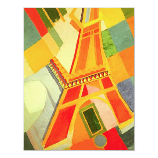 Robert Delaunay Eiffel torn 10,8 X 14 Cm Inbjudningskort