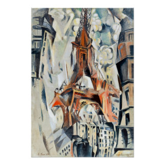 Robert Delaunay Eiffel torn Poster