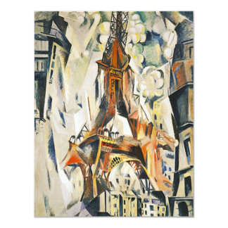 Robert Delaunay Eiffel torninbjudningar 10,8 X 14 Cm Inbjudningskort