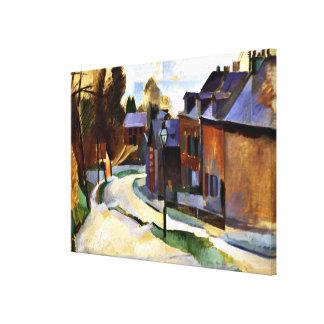 Robert Delaunay konst: Väg i Laon Canvastryck