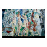 Robert Delaunay - stad av den Paris affischen Affisch