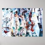Robert Delaunay staden av den Paris affischen Affischer