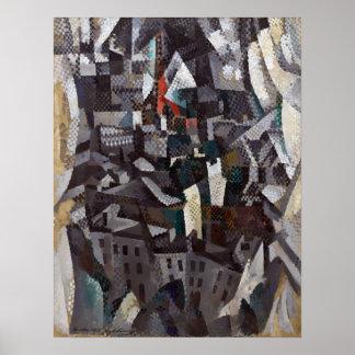 Robert Delaunay staden Poster