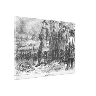 Robert E. Lee med hans soldater på Fredericksburg Canvastryck