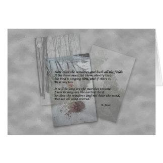 Robert Frost poesi Hälsningskort