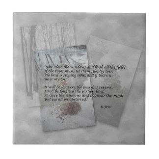 Robert Frost poesi Kakelplatta