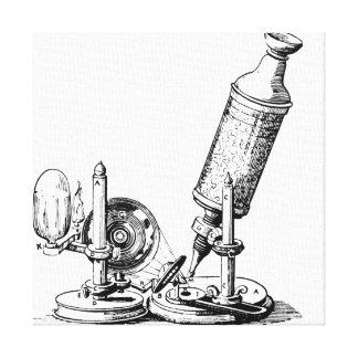 Robert Hookes mikroskop Canvastryck