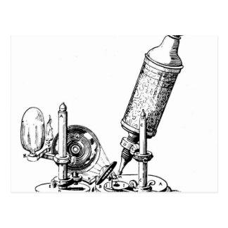 Robert Hookes mikroskop Vykort